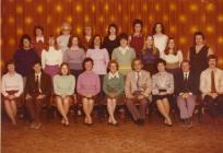 Y Bontfaen primary school staff, Cowbridge 1976