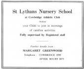 St Lythan's nursery school, Cowbridge 1968