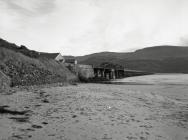 The Barmouth end of the railway and foot bridge...