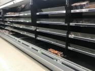 Empty Shop Shelves, Fresh Meat Aisle, Asda...