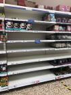 Empty Shop Shelves, Flour Aisle, Tesco Barry,...