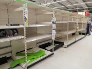 Empty Shop Shelves, Toilet Roll Aisle, Asda...