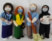 Needle Felted Local and NHS Heroes, COVID 19, 2020
