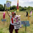 Protest Archub y Dolydd Gogleddol, Caerdydd,...