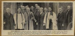 Civic Service, Cardiff 1938