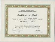 Methodist Missionary Society Certificate of...