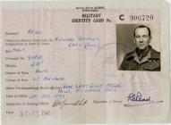 Military Identity Card belonging to Capt R G...