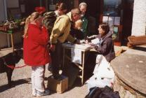 Info stall on coastal walk event