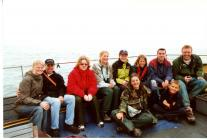 Boat survey volunteers