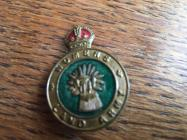 Mary Bott, Women's Land Army Badge