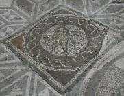 Four Seasons Mosaic detail – cupid with dying...