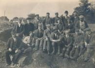 Black and white photograph of Caerwent diggers