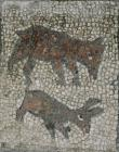 Four Seasons mosaic detail - hunting dog...