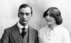 Harry White with his wife, 1915