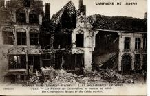 Cerdyn post o Ypres a anfonwyd i Gaerfyrddin yn...