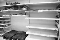 Empty shelves, Tesco, Bangor