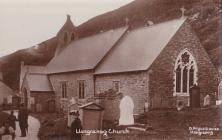 Llangrannog Church early RP by D. Pryce Davies