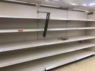 Empty Supermarket Shelves, Bridgend