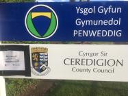 Signs at Penweddig Comprehensive School...