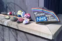 COVID 19 Lockdown: painted thank-you stones