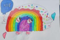 Rainbows in Windows by Eleanor, March 2020