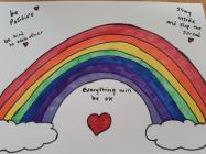Rainbows in Windows by Hannah, March 2020