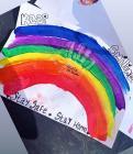 Rainbows in Windows by Alfie, March 2020