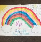 Rainbows in Windows by Nyla, March 2020