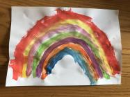 Rainbows in Windows by Jack in Kidwelly, March...