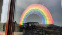 Rainbows in windows