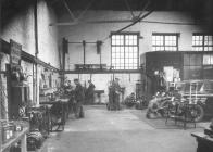 The interior of West Wales Garage, Aberystwyth...