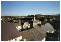 View over Cowbridge High Street 1996