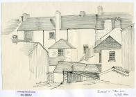 Cowbridge High Street, rear - sketch