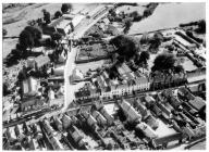 Arial view, Cowbridge centre, mid 1960s