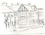 19 High St, Cowbridge, Horse & Groom, sketch