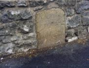 Aberthin Rd, Cowbridge, Turnpike Trust stone 2004