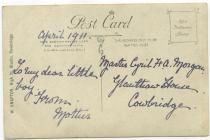 Emily Lloyd Morgan of Glanthaw, Cowbridge 1911