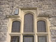 Institute window, back of Town Hall, Cowbridge