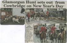 New Year's Day hunt, Cowbridge 2014