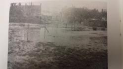 Flooding of river Thaw, Cowbridge, 1950s
