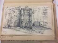 Beaupre castle, near Cowbridge 1865