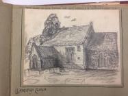 Llandough church, near Cowbridge - 1800s sketch