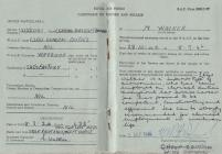 Mary Griffiths, nee Walker (1924-). Certificate...