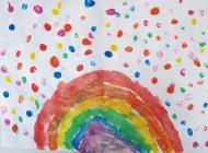 Rainbows in Windows by Myla, April 2020