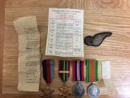 Eric Evans (1924-). Campaign Medals