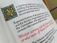 WW2 Book of Remembrance Inscription