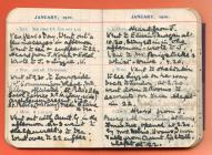 Extracts of Carmarthen entries, 1910 diary by...