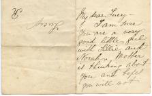Letter sent to Lucy Hannah White by her mother,...