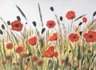 Poppy Painting by Mary Blake, 2020