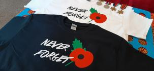 Poppy T-Shirts for Remeberence Day, 2020